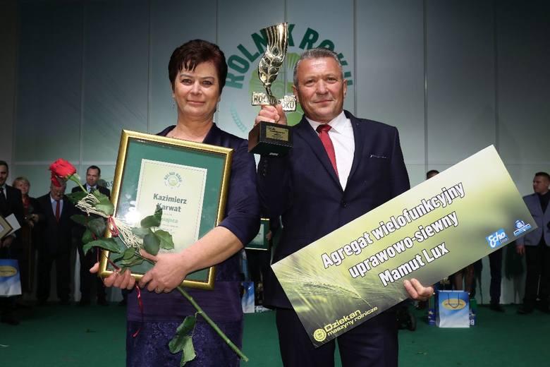 Kazimierz i Grażyna Karwat - zdobywcy tytułu Rolnik Roku 2017. [Kliknij w galerię, by poznać laureatów Złotej Dziesiątki]