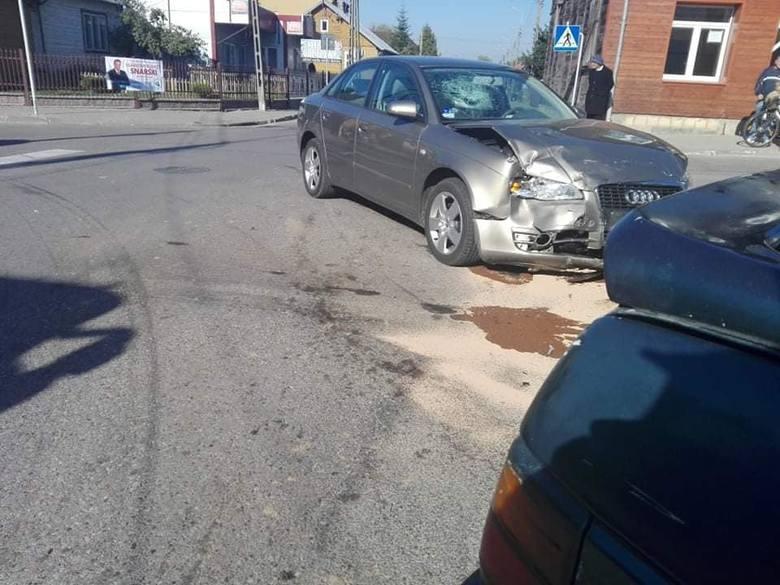 Do wypadku na skrzyżowaniu ulic Mickiewicza i Jana Pawła II w Brańsku doszło w czwartek około godz. 10.50.