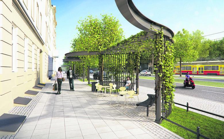 Zgodnie z planami, tak będzie wyglądała wkrótce zieleń wzdłuż ul. Północnej w Łodzi...
