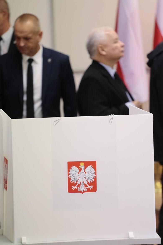 13.10.2019 Jaroslaw Kaczynski głosuje w wyborach parlamentarnych