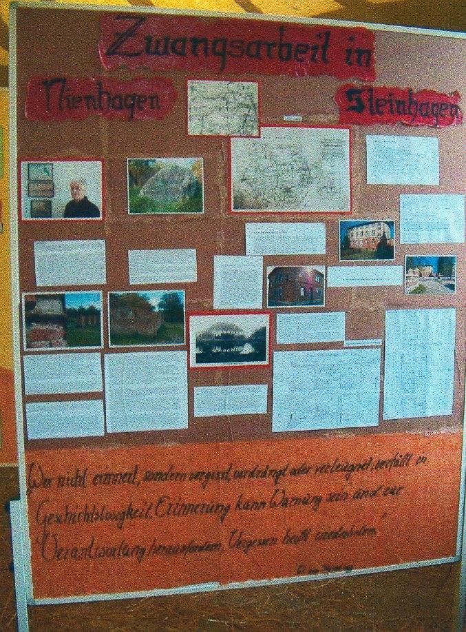Wystawa zorganizowana przez uczniów niemieckiego gimnazjum, na której znalazły się również  wspomnienia Skiermańskiej