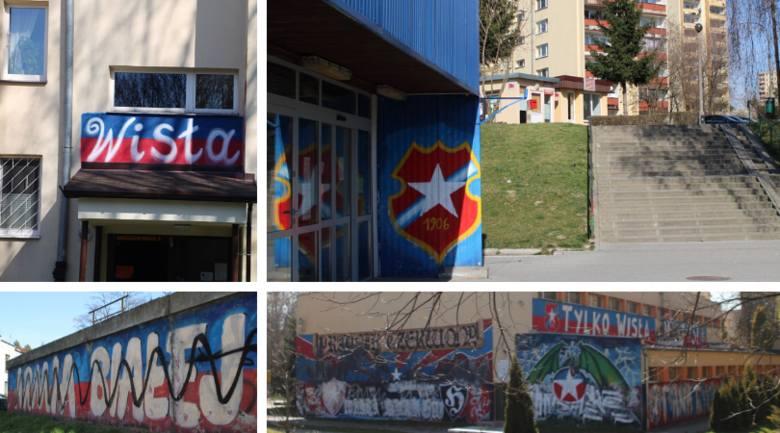 Wisła Kraków (nie tylko) na murach. Prądnik Czerwony. Graffiti, malunki i bazgroły [ZDJĘCIA]