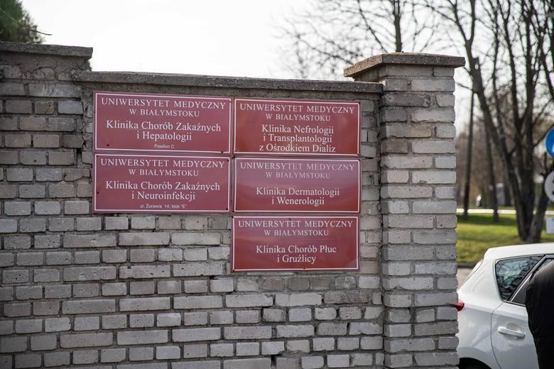 Szpital zakaźny w Białymstoku. To tu trafiła Katarzyna. I tu pobrano jej próbki, z których wynika, że jest zakażona koronawirusem.
