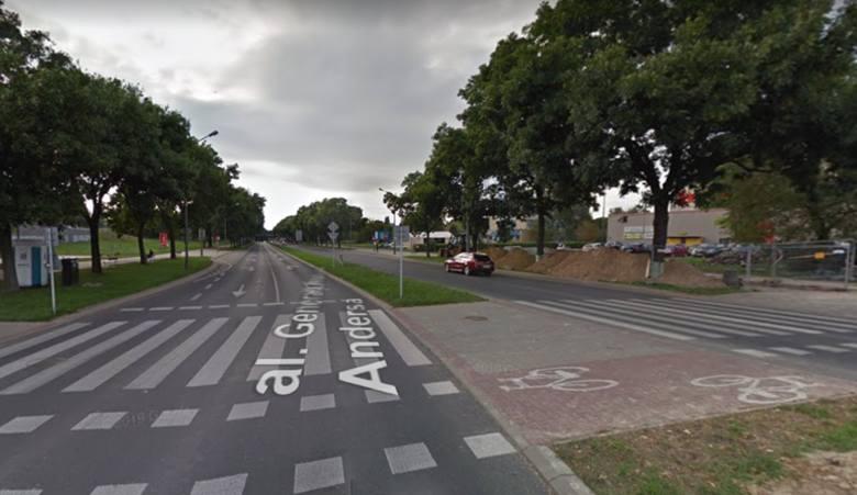Ulica: Aleja Generała Władysława AndersaLiczba wypadków: 7Liczba zabitych: 0Liczba rannych: 8