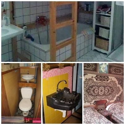 Prysznic w kuchni? Wanna w łóżku piętrowym? To nie żart! Takie mieszkania za grube pieniądze chcą komuś wynająć Polacy! Dominują też pstrokate kolory