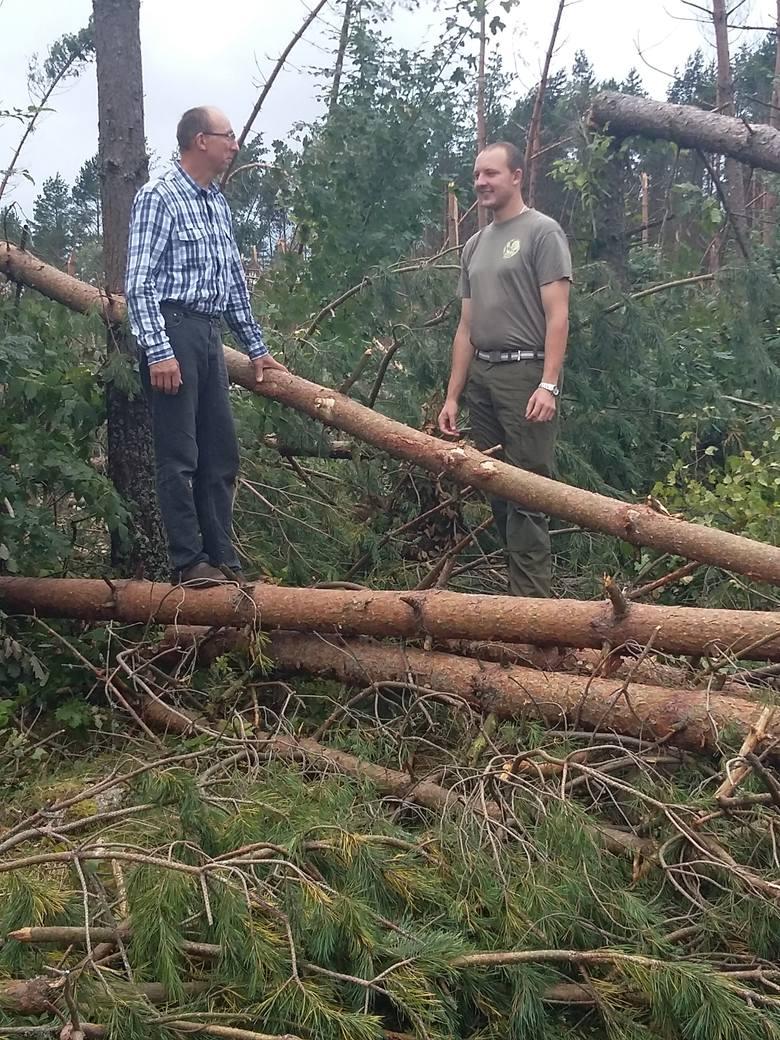 Andrzej Synak i jego syn Mateusz, leśnik z zawodu, są przekonani, że w pojedynkę indywidualni właściciele lasów nie będą sobie w stanie poradzić ze skutkami sierpniowej nawałnicy