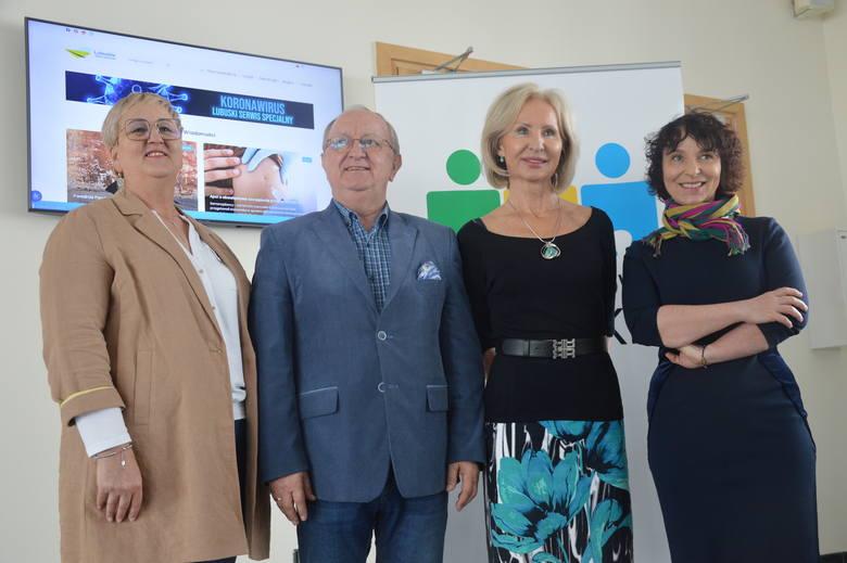 Od lewej: Wioleta Haręźlak, Edward Fedko, Aleksandra Mrozek, Beata Kulczycka