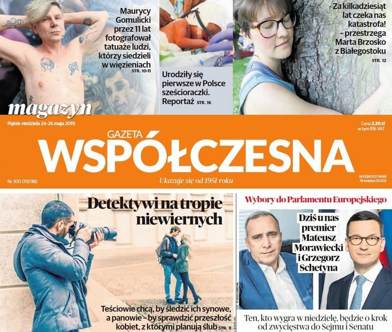 """""""Gazeta Współczesna"""" z 24.05.2019 za darmo w PDF - Magazyn oraz Program TV"""