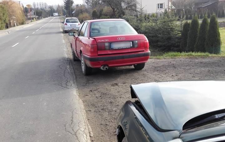 Do zdarzenia doszło w poniedziałek o godz. 9 na drodze krajowej nr 28 w Starej Birczy w pow. przemyskim. Kierująca audi zatrzymała się za poprzedzającym