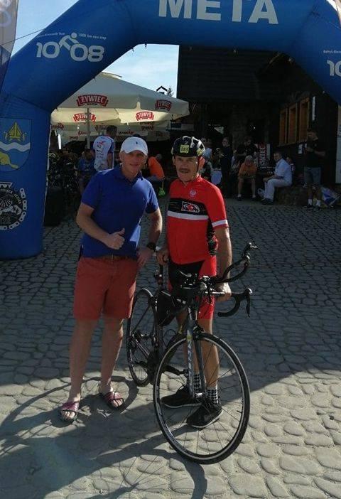Ostrołęczanie Michał Ciecierski i Zdzisław Piotrowski ukończyli morderczy ultra maraton kolarski Bałtyk-Bieszczady Tour 2020. Zdjęcia