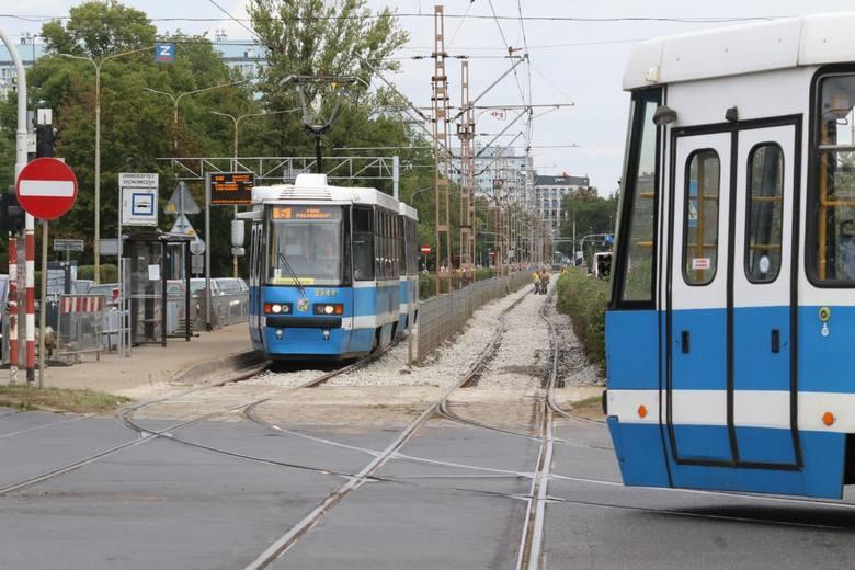 Wrocław, tramwaje na ulicy Ślężnej. Zdjęcie ilustracyjne