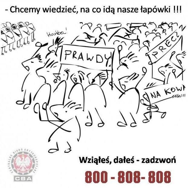 """Czy dzięki satyrycznym rysunkom zmieni się podejście Polaków do korupcji? Na razie króluje przekonanie, że """"trzeba posmarować, gdy chce się jechać""""."""