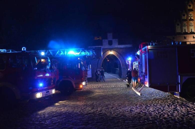 Pożar na Zamku Wysokim w Malborku