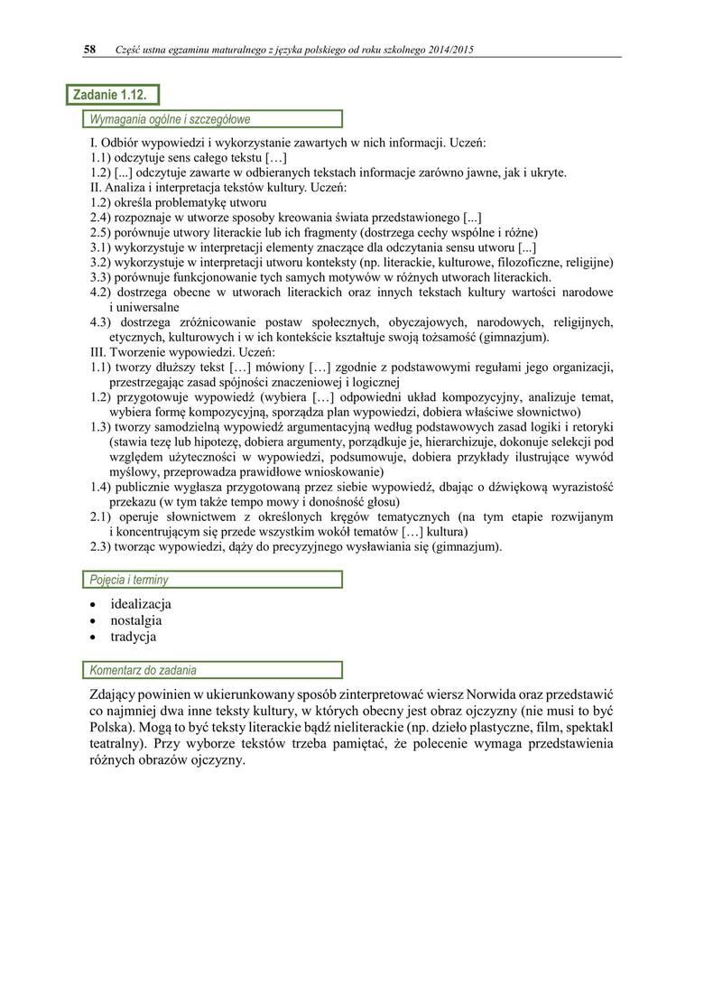 Matura Ustna Z Języka Polskiego Tematy 20 Maja 2019 Pytania