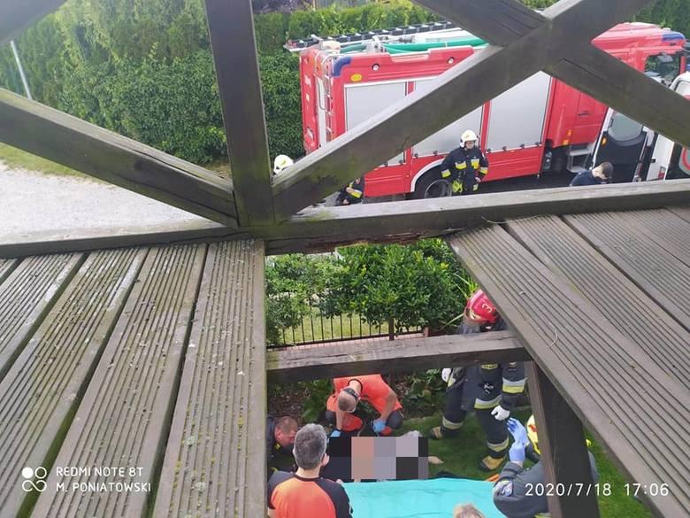 Wypadek w Kotowicach w gminie Siechnice