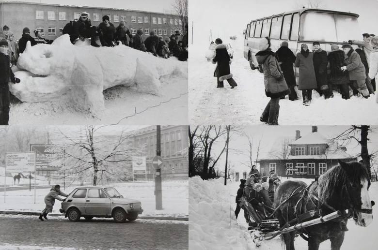 Wspominamy podlaskie zimy sprzed lat. Dziś wystarczy intensywny opad śniegu i już jesteśmy o krok od ogłoszenia klęski żywiołowej. Kiedyś było jednak