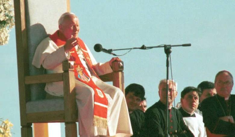 Papież Jan Paweł II z wizytą w Gorzowie w 1997 r.