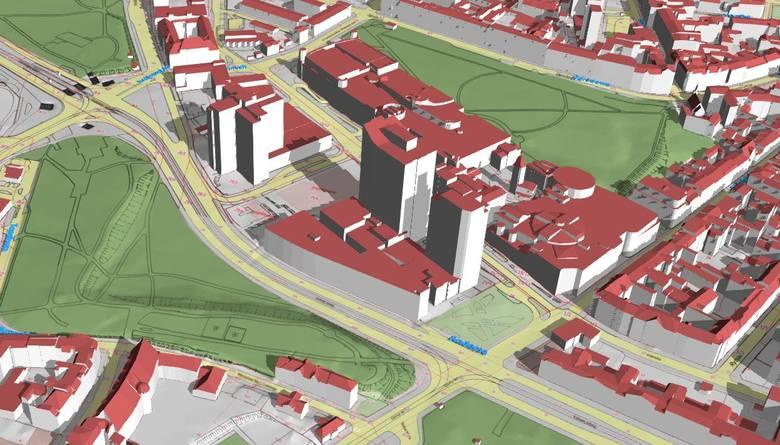 Model 3D - rejon Starego Browaru<br /> <br /> <strong>Przejdź do kolejnego slajdu ----></strong><br />
