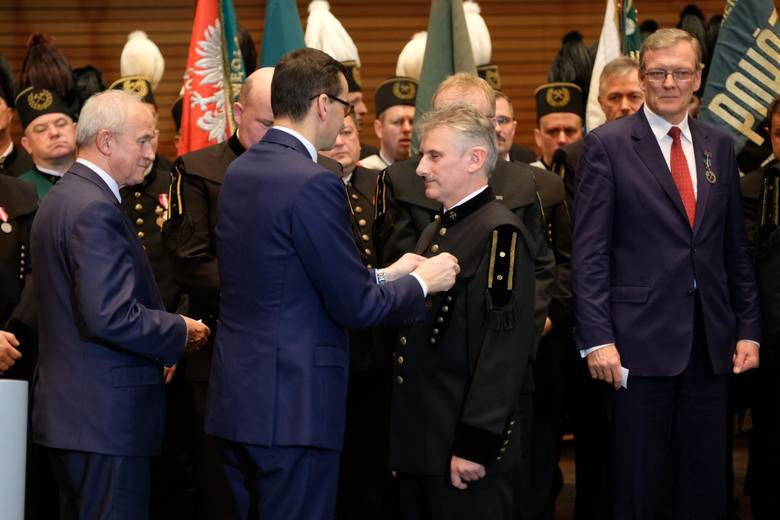 Katowice: Barbórka 2018 górników PGG z premierem Mateuszem Morawieckim