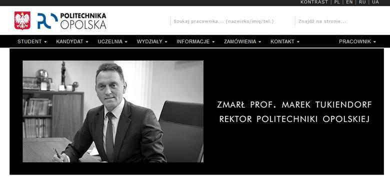 Prof. Marek Tukiendorf nie żyje. Rektor Politechniki Opolskiej miał 55 lat