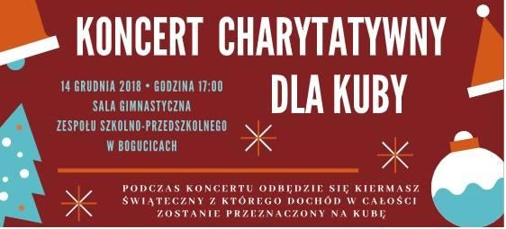 Charytatywny Koncert dla Kubusia Wieczorka w szkole w Bogucicach. Będzie też kiermasz [ZOBACZ PROGRAM]