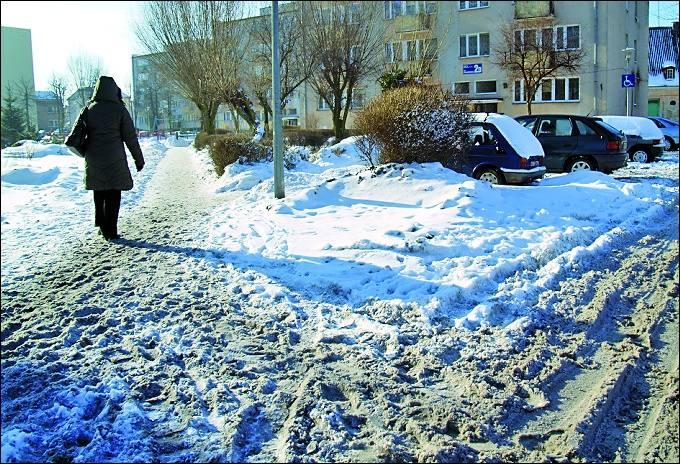 Chodniki pod śniegiem