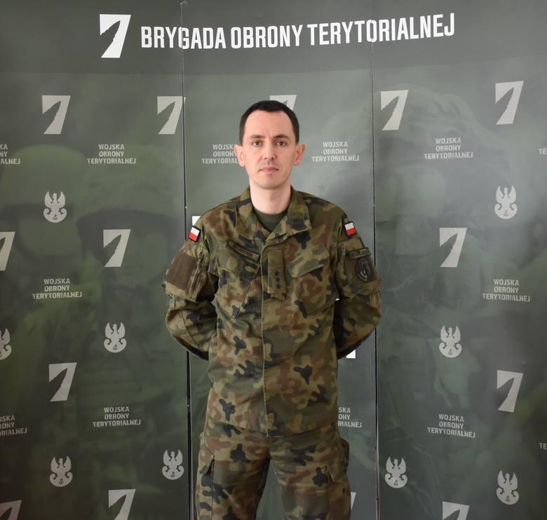 por. Tomasz Klucznik, oficer prasowy 7. Pomorskiej Brygady Obrony Terytorialnej