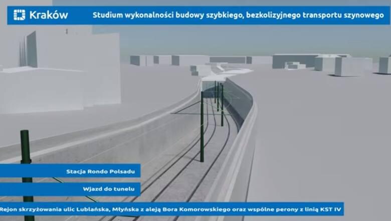 Wizualizacja - premetro w Krakowie