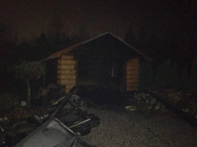 W poniedziałek po godzinie 19. strażacy zostali wezwani do pożaru garażu w miejscowości Cieciorki w gminie Zambrów.