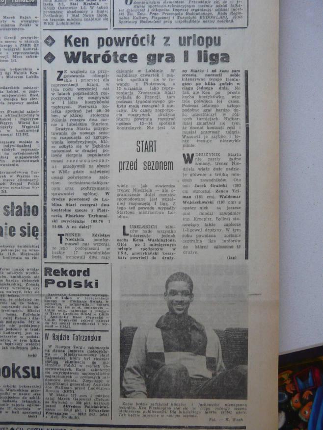 Kent Washington napisał książkę. Legendarny koszykarz Startu Lublin wspomina pobyt w Polsce