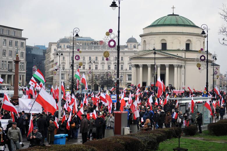Niedzielny Marsz Wolności i Solidarności.