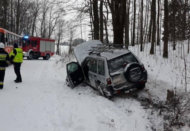 Do wypadku w miejscowości Marlinowo w gm. Dubeninki doszło 9 stycznia przed godziną 8.
