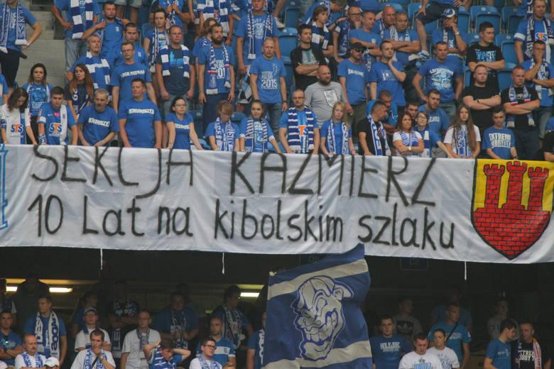 Kibice na meczu Lech Poznań - Zagłębie Lubin [GALERIA]