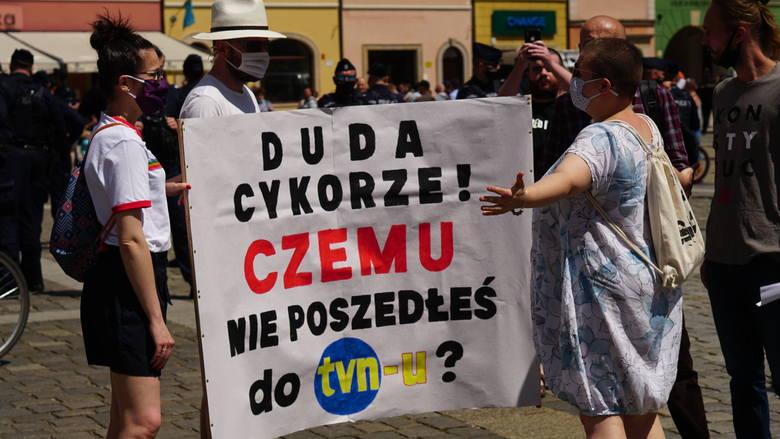 Andrzej Duda na Rynku chwali rozwój Wrocławia: chapeau bas!