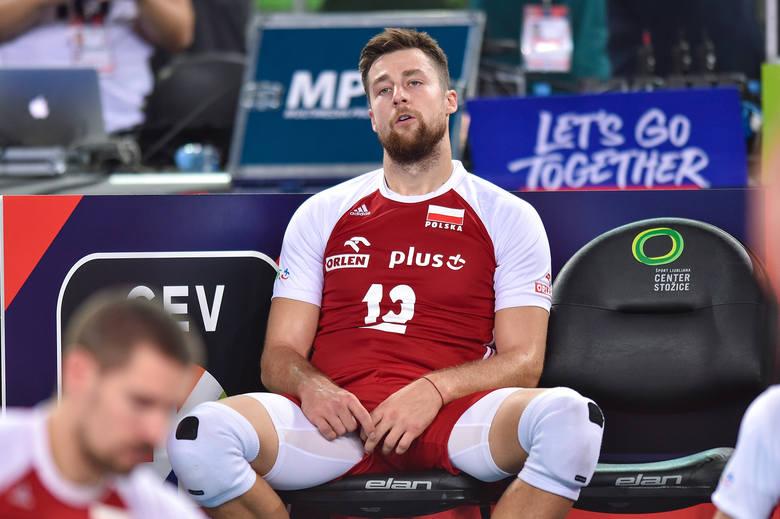 Polscy siatkarze zagrali słabo i przegrali w Lublanie ze Słowenią 1:3. W sobotę zagrają o trzecie miejsce mistrzostw Europy. Zobacz, jak na zdjęciach