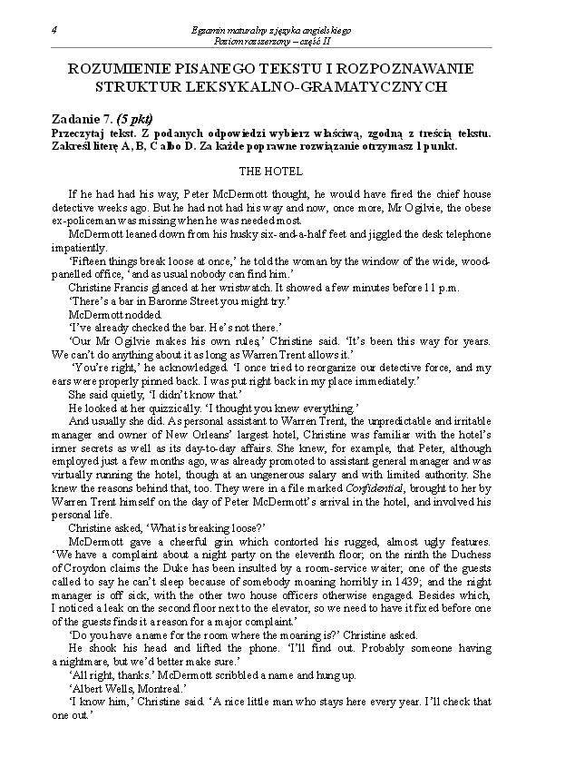 Matura 2014. Język angielski - poziom rozszerzony-arkusze