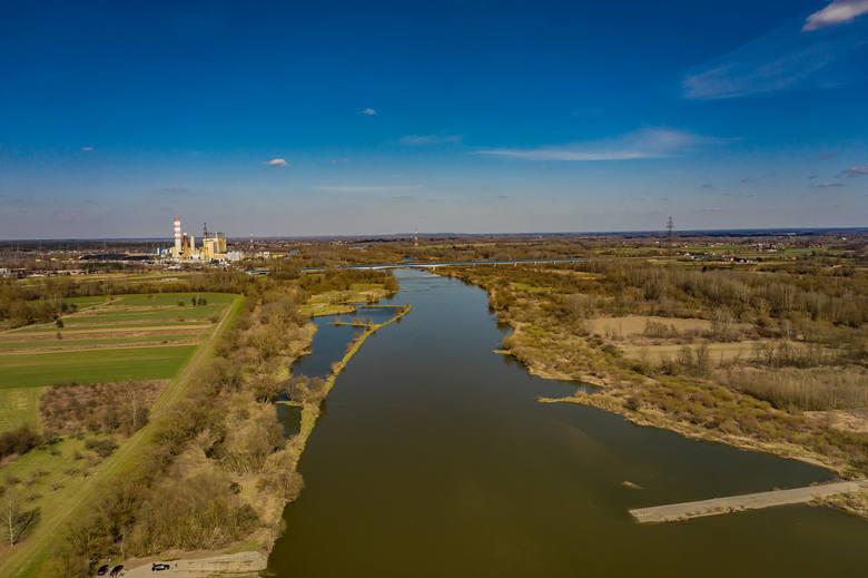 Kilka dni przed świętami w Połańcu można było poczuć przedsmak wiosny, a tereny zielone wokół Wisły i w centrum powoli zaczęły nabierać ciepłe barwy.