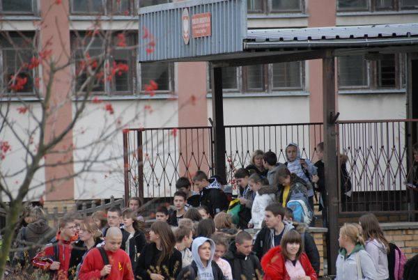 Ewakuacja uczniów
