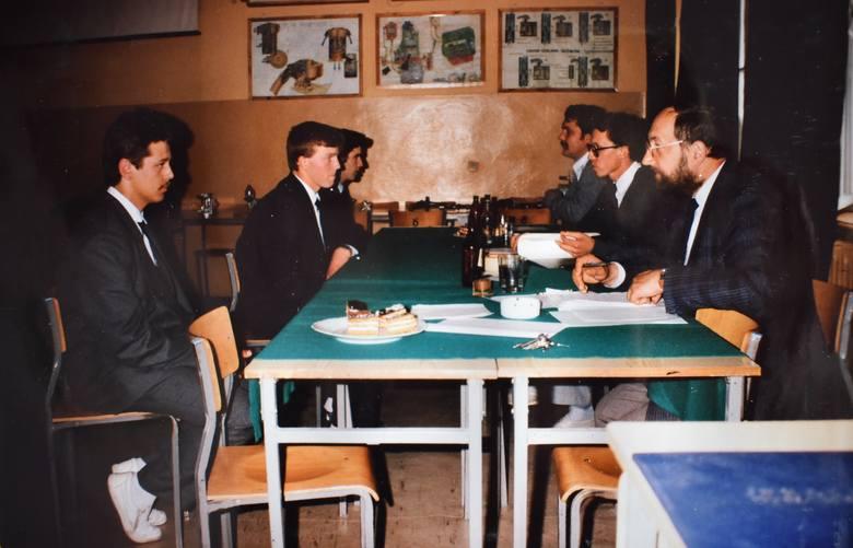 Czerwiec 1991 r., egzamin z praktycznej nauki zawodu