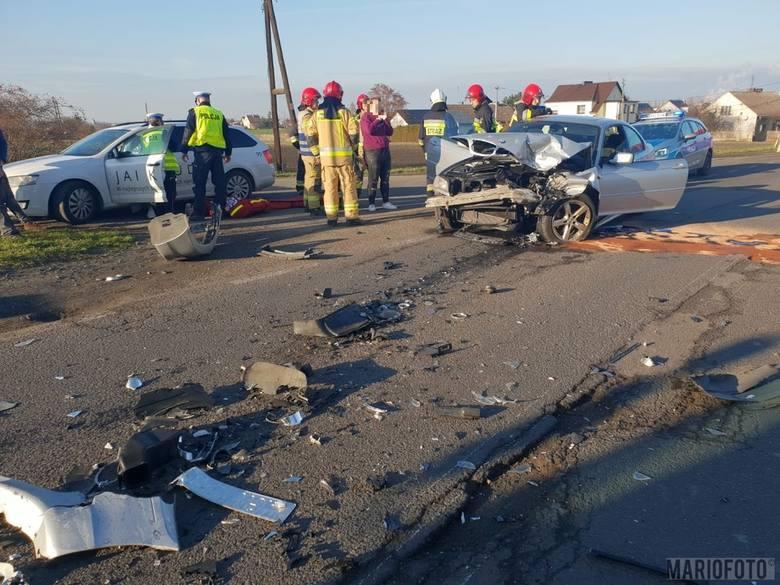 Wypadek na Prószkowskiej w Opolu. Fiat 500 zderzył się z BMW
