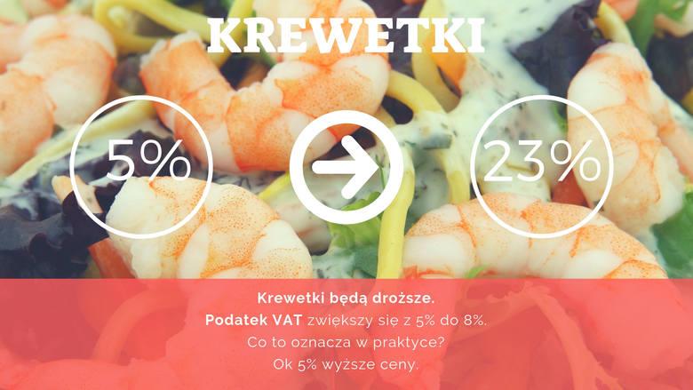 Spora podwyżka czeka miłośników kuch i śródziemnomorskiej. Ceny krewetek, przez zmiany w VAT, mogą być wyższe nawet o kilkanaście złotych.