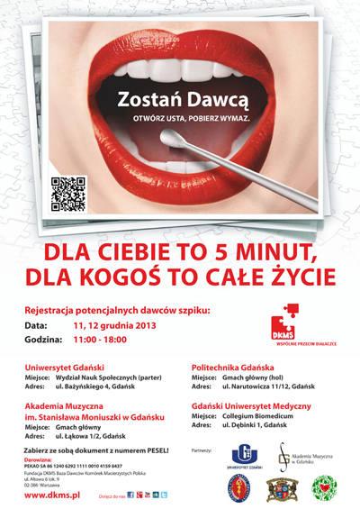 Gdańsk: Dni Dawcy Szpiku na uczelniach. Zarejestruj się!
