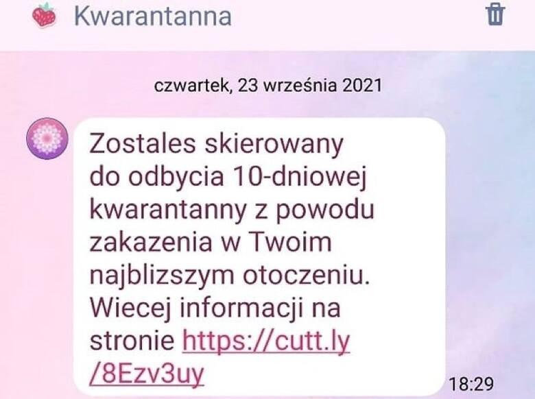 Tak wygląda przykładowa wiadomość tekstowa, która jest oszustwem.