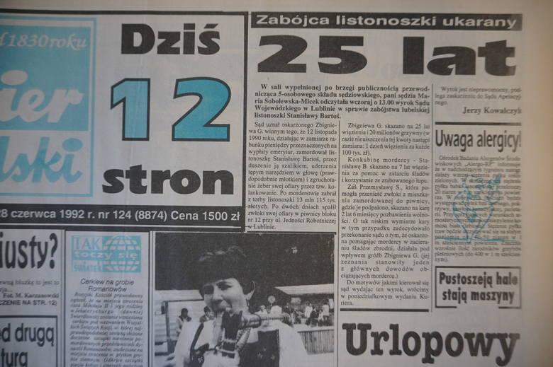 """""""Kurier Lubelski"""" z 1992 roku"""