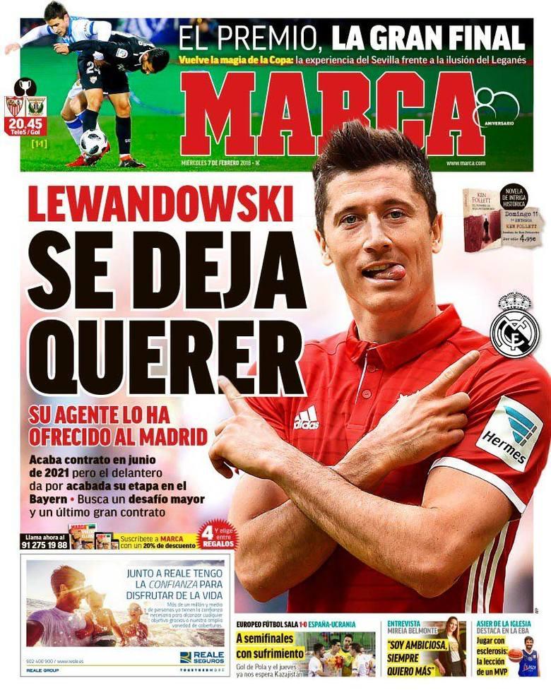 Transfery. Robert Lewandowski zaoferowany Realowi Madryt.