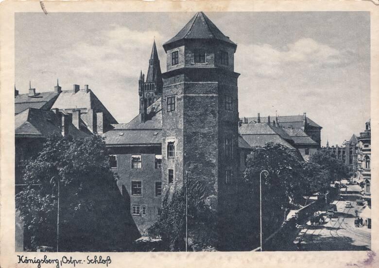 Zamek w Królewcu. Tutaj, w pierwszej dekadzie XVIII wieku rozpoczęła się historia Bursztynowej Komnaty i tutaj, podczas II wojny światowej, skarb po raz ostatni był wystawiony na widok publiczny