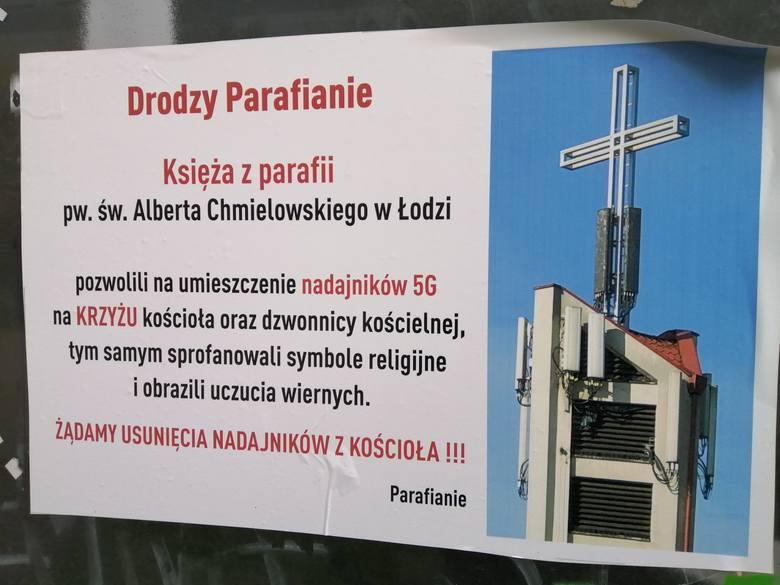Nie wszystkim podoba się uruchomiona w Łodzi sieć 5 G. Mieszkańcy Widzewa uważają, że nadajnik profanuje kościelny krzyż. Tylko że nadajnika 5G na kościelnej