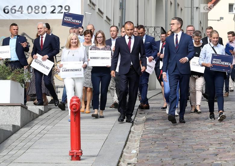 Koalicja Obywatelska pokazała kandydatów do Sejmu i Senatu