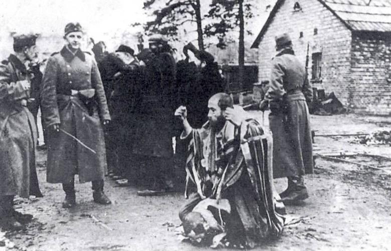 Ordnungspolizei likwiduje getto w Łukowie