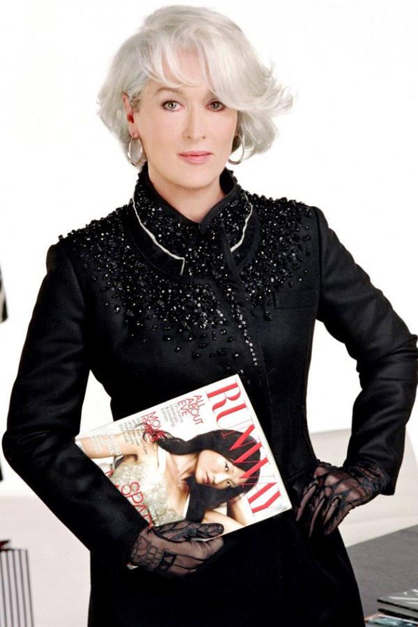 """Meryl Streep w filmie """"Diabeł ubiera się u Prady"""" (2006)"""
